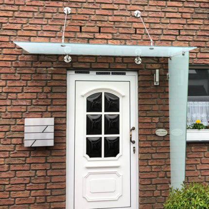 Vordach aus Glas Stahlkonstruktion Stahl Witten