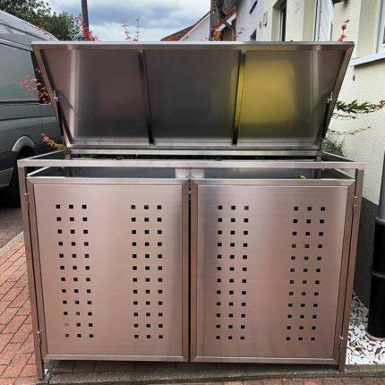 Mülltonnenboxen maßgefertigt aus Stahl aufklappbar Witten