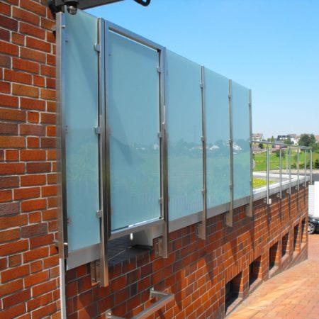 Geländer aus Stahl mit Verglasung Witten